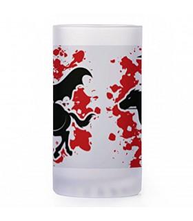 Jarro de Cerveja guerreiros gregos, vidro translúcido