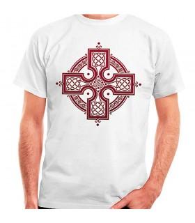 Camisa branca com Cruz Celta, manga curta