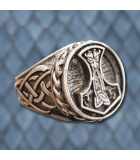 Anel Viking Martelo de Thor