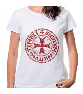 T-shirt Mulher Branca, a Cruz e a Lenda Templária