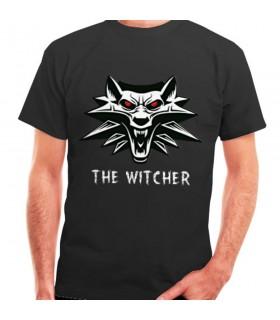 T-shirt The Witcher preta, manga curta