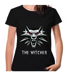 T-shirt The Witcher Mulher, manga curta