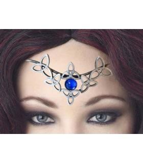 Pingente medieval pérola de cristal azul