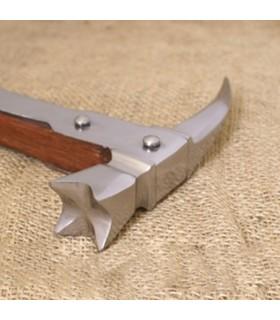 Martelo de guerra Medieval bico de corvo, (70,5 cms.)