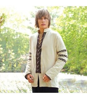 Camisa Nórdica almofadada, cor creme