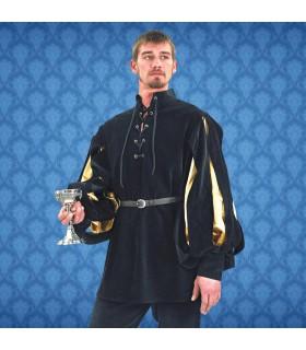 Camisa Renascentista Cavalier, veludo