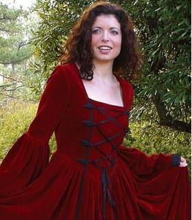 Vestido Renascentista Scarlett