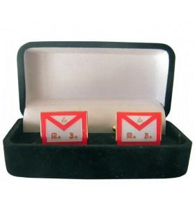 Gêmeos Maçônicos Avental REAA com guarda-jóias