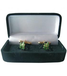 Gêmeos Maçônicos Ramo de Acácia com guarda-jóias