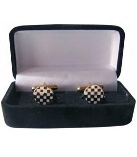 Gêmeos Maçônicos Pavimento de Mosaico com guarda-jóias