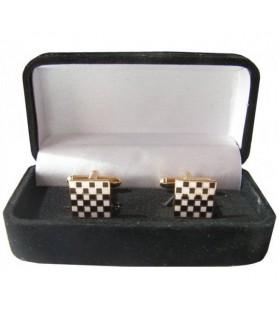 Gêmeos Maçônicos Pavimento Mosaico quadrados com guarda-jóias