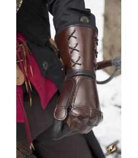 Luva de couro, braço esquerdo (1 unidade)