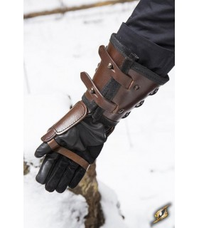Luva de couro, braço direito (1 unidade)