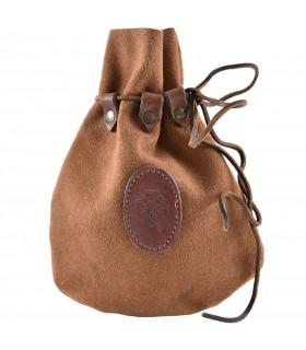 Bolsa Celta pele exterior em camurça com laço