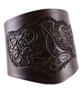 Pulseira-faixa curto Martelo de Thor, com laços
