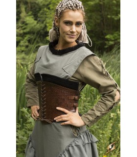 Espartilho medieval couro, Margot