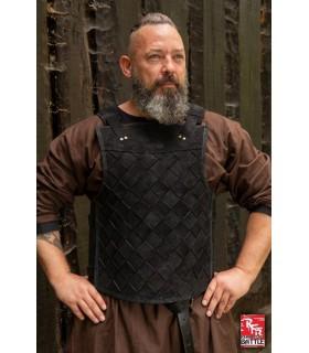Armadura viking em couro preto