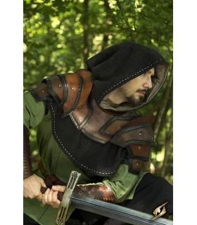Gorjal medieval de couro bicolor