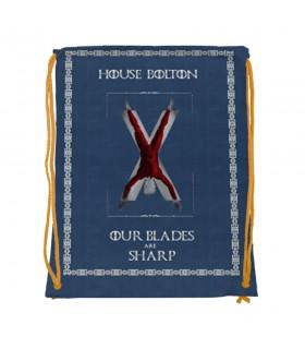 Mochila de cordas House Bolton de game of Thrones (34x42 cms.)