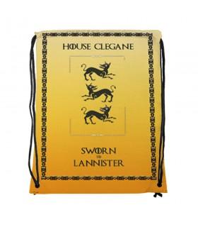 Mochila de cordas House Clegane de game of Thrones (34x42 cms.)