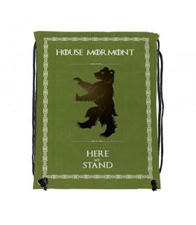 Mochila de cordas House Mormont de game of Thrones (34x42 cms.)
