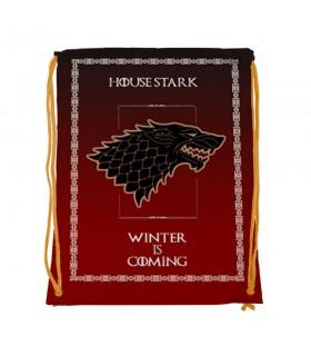 Mochila de cordas House Stark de game of Thrones (34x42 cms.)
