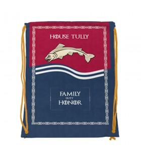 Mochila de cordas House Tully de game of Thrones (34x42 cms.)