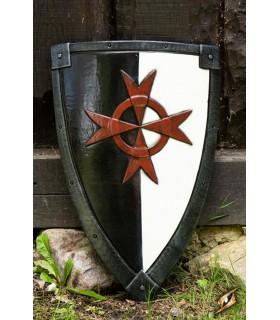 Escudo Cruzados preto e branco, 70 x 50 cm