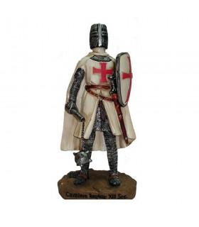 Miniatura cavaleiro Templário com maça e um escudo