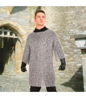 A Cota de malha medieval em alumínio