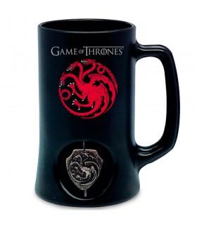 Panela preta da casa Targaryen de game of Thrones