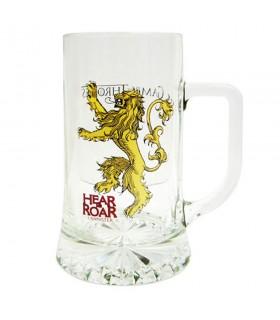 Jarro de cerveja de vidro Hear Me Roar Lannister de game of Thrones