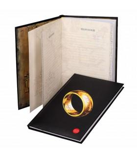 Livro com a luz do Senhor dos Anéis