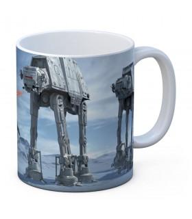Caneca de cerâmica branca Batalha de Hoth de Star Wars