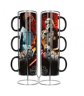 Conjunto de 3 copos empilháveis de cerâmica Star Wars. Ep7