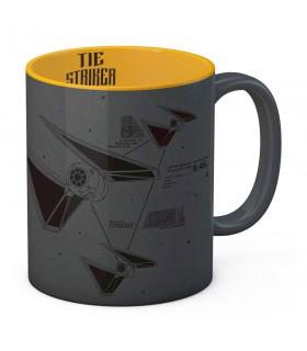 Caneca de cerâmica Cinza-Amarela Striker de Star Wars