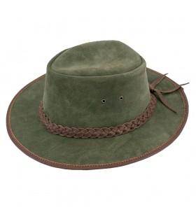 Chapéu verde de cowboy no velho oeste