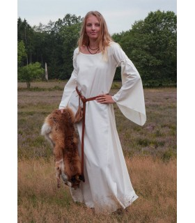 Vestido medieval mulher Burglinde mangas trombeta
