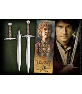Caneta esferográfica e Marca páginas espada Dardo, O Hobbit