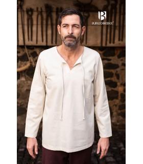 Camisa medieval laços Ulrich, creme