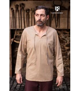 Camisa medieval laços Ulrich, cânhamo