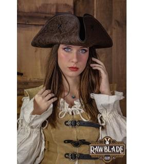 Chapéu pirata deluxe Jack Rackham, marrom