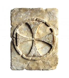 Pegada Histórica Cruz Templária, 20 x 15 cm
