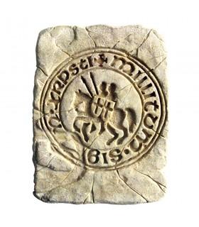 Pegada Histórica Selo dos Cavaleiros Templários, 20 x 15 cm