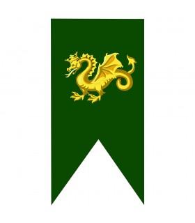 Estandarte Medieval Dragão de Ouro