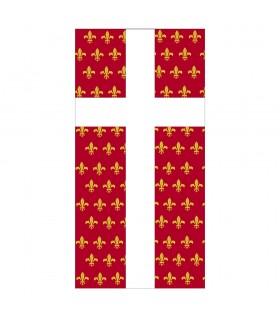 Estandarte Medieval Cruz sobre Flor de Lys