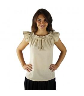 Blusa medieval de verão sem mangas Lotte