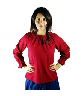 Blusa medieval mulher Bettina, vermelho