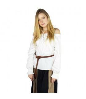 Blusa medieval mulher Bettina, branco