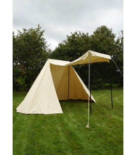 Tenda Saxônica de 4 x 6 m., branco natural
